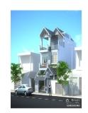 Thiết kế nhà 3 tầng diện tích 13,5 x 15,4m