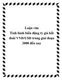 Luận văn Tình hình biến động tỷ giá hối đoái VND/USD trong giai đoạn 2008 đến nay