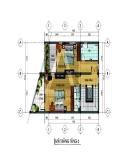 Thiết kế nhà ở kết hợp văn phòng trên đất hình thang