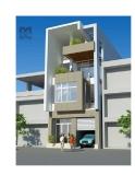 Thiết kế nhà ở kết hợp văn phòng trên đất 8 x 19,5 m