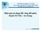 Hiệu quả sử dụng đất vùng đất phèn  huyện Tri Tôn – An Giang