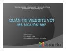Giáo trình Quản trị website với mã nguồn mở