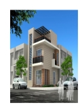 Thiết kế ngôi nhà hiện đại hai mặt tiền