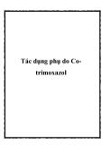 Tác dụng phụ do Cotrimoxazol