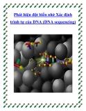 Phát hiện đột biến nhờ Xác định trình tự của DNA (DNA sequencing)