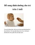 Bổ sung dinh dưỡng cho trẻ trên 1 tuổi