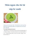 Món ngon cho bé từ súp lơ xanh