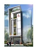 Nhà 5 tầng trên diện tích 40 m2, có ga ra ô tô