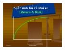 Suất sinh lời và Rủi ro [Return & Risk]