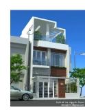 Nhà 16,5m x 6m phong cách hiện đại