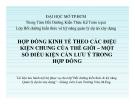 HỢP ĐỒNG KINH TẾ THEO CÁC ĐIỆU  KIỆN CHUNG CỦA THẾ GIỚI – MỘT  SỐ ĐIỀU KIỆN CẦN LƯU Ý TRONG  HỢP ĐỒNG