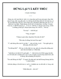 Truyện ngắn DỪNG LẠI VÀ KẾT THÚC