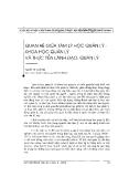 """Báo cáo """" Quan hệ giữa tâm lý học quản lý khoa học quản lý và thực tiễn lãnh đạo quản lý"""""""