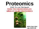 PHÂN TÍCH MICROVESICLES BẰNG KĨ THUẬT PROTEOMICS