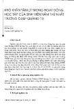 """Báo cáo """" Khó khăn tâm lý trong hoạt động học tập của sinh viên năm thứ nhất trường CĐSP Quảng Trị"""""""