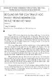 """Báo cáo """" Sử dụng bài tập cuả tâm lý học Piaget trong nghiên cứu trí tuệ trẻ em Việt nam"""""""