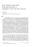 """Báo cáo """"Thực trạng chọn nghề của học sinh lớp 12 trường THPT số 1 Bát Xát, Lào Cai """""""