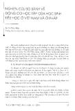 """Báo cáo """" Nghiên cứu so sánh về động cơ học tập của học sinh tiểu học ở Việt Nam và Pháp """""""