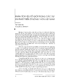 """Báo cáo """"Phân tích yếu tố giới trong các dự án phát triển ở nông thôn Việt nam """""""