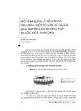 """Báo cáo """" Mô hình quản lý tiền trong gia đình- một số vấn đề đặt ra qua nghiên cứu trường hợp tại Lộc Hoà, Nam Định"""""""