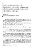 """Báo cáo """" Thực trạng lựa chọn các giá trị đạo đức nhân văn trong lối sống của sinh viên thành phố Hồ Chí Minh hiện nay """""""