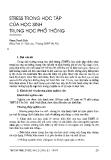 """Báo cáo """"Stress trong học tập của học sinh Trung Học Phổ Thông """""""
