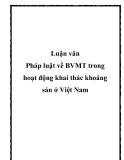 Luận văn Pháp luật về BVMT trong hoạt động khai thác khoáng sản ở Việt Nam