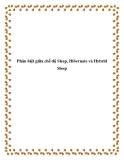 Phân biệt giữa chế độ Sleep, Hibernate và Hybrid Sleep.