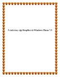 5 cách truy cập DropBox từ Windows Phone 7.5.