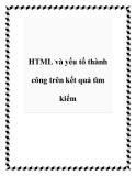HTML và yếu tố thành công trên kết quả tìm kiếm