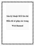 Sáu kỹ thuật SEO lén lút Điều đó sẽ giúp các trang Web Banned