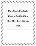 Định Nghĩa Duplicate Content Và Các Cách Khắc Phục Lỗi Hiệu Quả Nhất.
