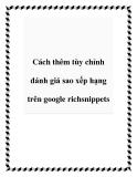 Cách thêm tùy chỉnh đánh giá sao xếp hạng trên google richsnippets
