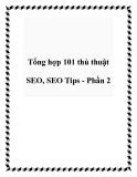 Tổng hợp 101 thủ thuật SEO, SEO Tips - Phần 2