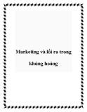 Marketing và lối ra trong khủng hoảng
