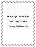 3 Cách Đặt Tiêu Đề Hiệu Quả Trong WebSite Thương Mại Điện Tử