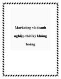 Marketing và doanh nghiệp thời kỳ khủng hoảng