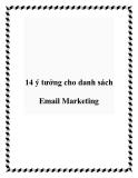 14 ý tưởng cho danh sách Email Marketing