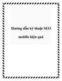 Hướng dẫn kỹ thuật SEO mobile hiệu quả