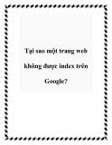 Tại sao một trang web không được index trên Google?