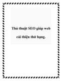 Thủ thuật SEO giúp web cải thiện thứ hạng.
