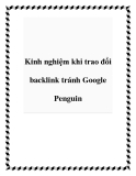 Kinh nghiệm khi trao đổi backlink tránh Google Penguin