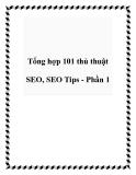 Tổng hợp 101 thủ thuật SEO, SEO Tips - Phần 1
