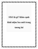SXO là gì? Khía cạnh khái niệm Seo mới trong tương lai