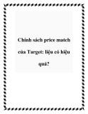Chính sách price match của Target: liệu có hiệu quả?