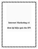 Internet Marketing có đem lại hiệu quả cho DN