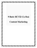 9 Bước Để Tối Ưu Hoá Content Marketing