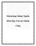 Marketing Online Nguồn Khơi Dạy Của Sự Thành Công