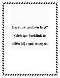 Backlink tự nhiên là gì? Cách tạo Backlink tự nhiên hiệu quả trong seo