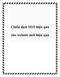 Chiến dịch SEO hiệu quả cho website mới hiệu quả